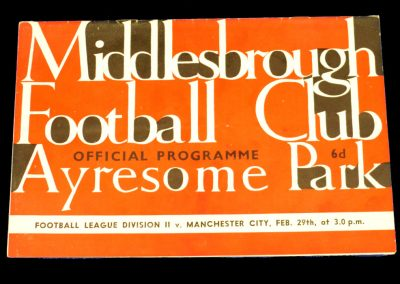 Middlesbrough v Manchester City 29.02.1964