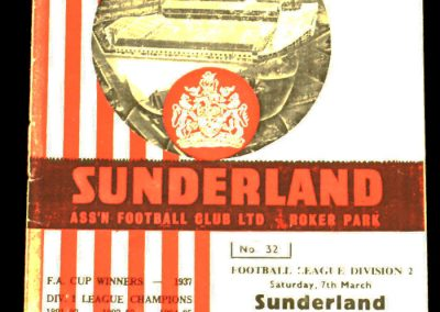 Sunderland v Middlesbrough 07.03.1964