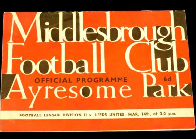 Middlesbrough v Leeds United 14.03.1964
