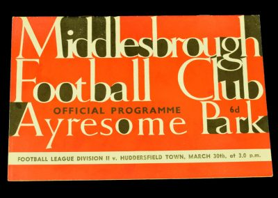 Middlesbrough v Huddersfield Town 30.03.1964