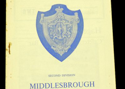 Middlesbrough v Huddersfield Town 31.03.1964