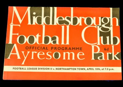 Northampton Town v Middlesbrough 10.04.1964