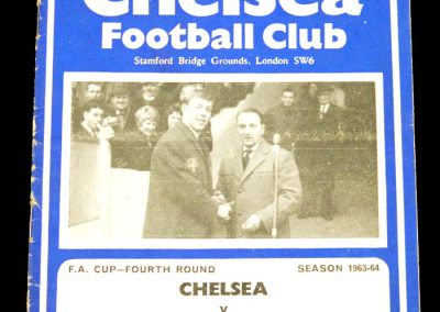 Chelsea v Huddersfield Town 25.01.1964 | FA Cup 4th Round