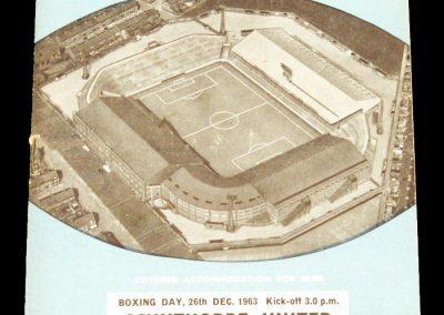 Scunthorpe United v Manchester City 28.12.1963