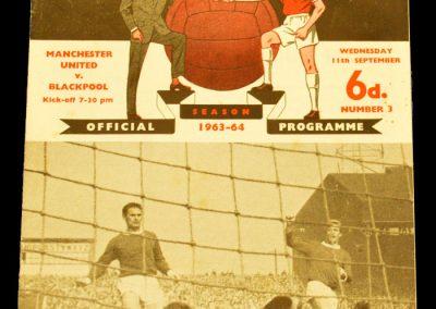 Manchester United v Blackpool 11.09.1963