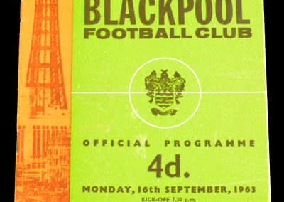 Blackpool FC v Manchester United 16.09.1963