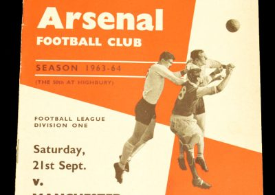 Arsenal v Manchester United 21.09.1963