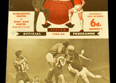 Manchester United v West Ham United 26.10.1963