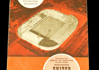 Manchester United v Tottenham Hotspur 10.12.1963 | European Cup Winners Cup 2nd Round