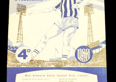 West Bromwich Albion v Manchester United 18.01.1964