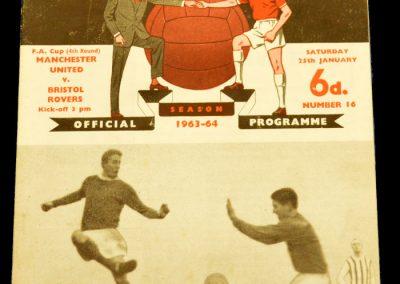 Manchester United v Bristol Rovers 25.01.1964 | FA Cup 4th Round