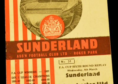 Sunderland v Manchester United 04.03.1964 | FA Cup 6th Round Replay