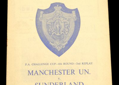 Sunderland v Manchester United 09.03.1964 | FA Cup 6th Round 2nd Replay