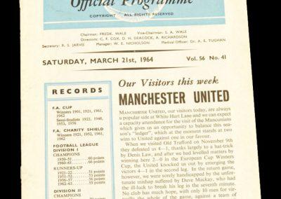 Tottenham Hotspur v Manchester United 21.03.1964