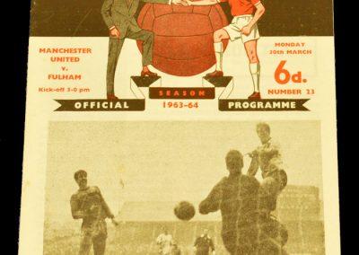 Manchester United v Fulham 30.03.1964