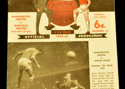 Manchester United v Sheffield United 13.04.1964