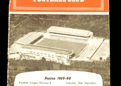 Arsenal v Blackpool 26.09.1959