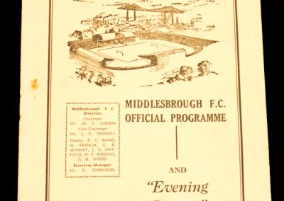 Plymouth Argyle v Middlesbrough FC 05.09.1959