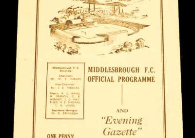 Grimsby Town v Middlesbrough 31.10.1959