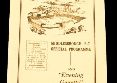 Bristol Rovers v Middlesbrough FC 21.11.1959