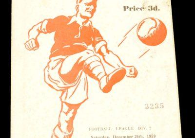 Rotherham United v Middlesbrough 26.12.1959