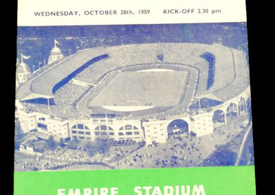 England v Sweden 28.10.1959 | International Friendly