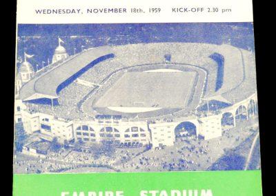 England v Northern Island 18.11.1959   British Championships