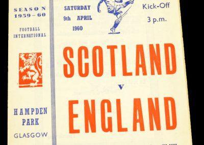 Scotland v England 09.04.1960   British Championships