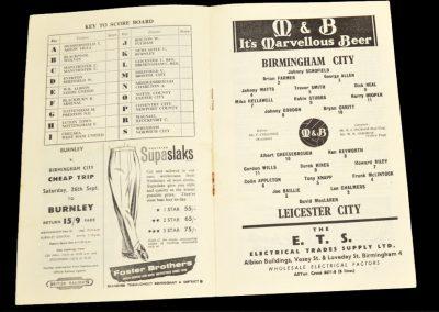 Birmingham City v Leicester City 19.09.1959