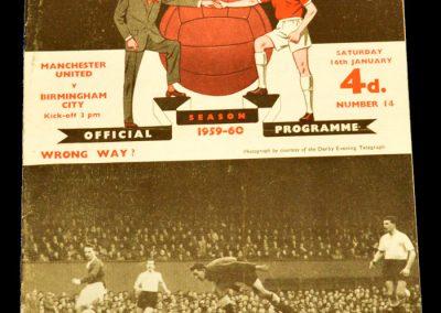 Manchester United v Birmingham City 16.01.1960