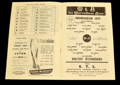 Birmingham City v Bolton Wanderers 19.03.1960