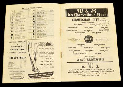 Birmingham City v West Bromwich Albion 18.04.1960