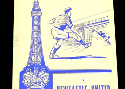 Blackpool v Newcastle United 14.11.1959