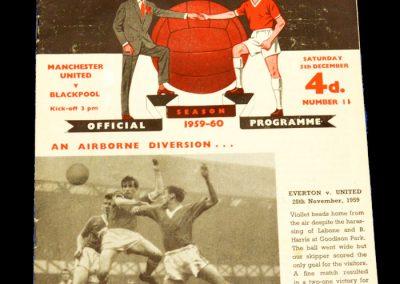 Manchester United v Blackpool 05.12.1959
