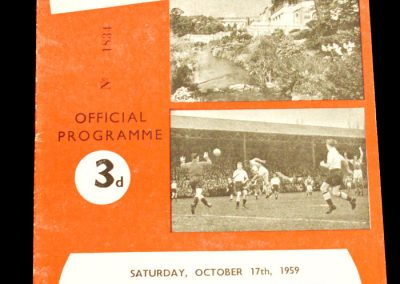 Bournemouth and Bosecombe v Brentford 17.10.1959