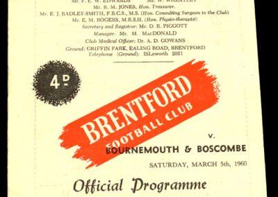 Bournemouth & Boscombe v Brentford 05.03.1960