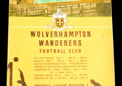 Wolverhampton Wanderers v Manchester City 16.01.1960