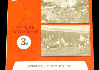 Bournmouth v Halifax 27.08.1958