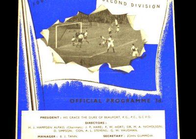 Bristol Rovers v Scunthorpe 30.08.1958