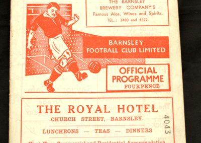 Barnsley v Huddersfield 30.08.1958