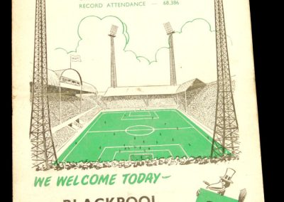 Newcastle v Blackpool 03.09.1958