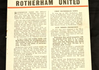 Charlton Athletic v Rotherham United 04.09.1958