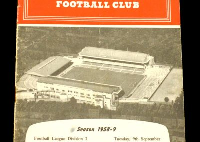 Arsenal v Bolton 09.09.1958