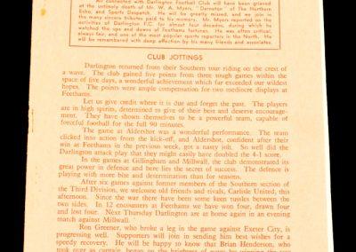 Darlington FC v Carlisle United 13.09.1958