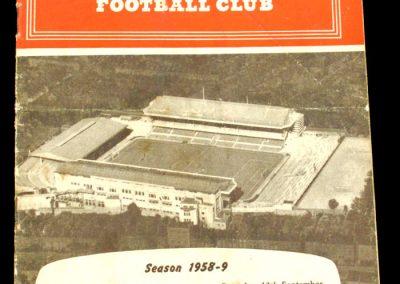 Arsenal v Tottenham Hotspur 13.09.1958