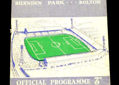 Bolton Wanderers v Arsenal 17.09.1958