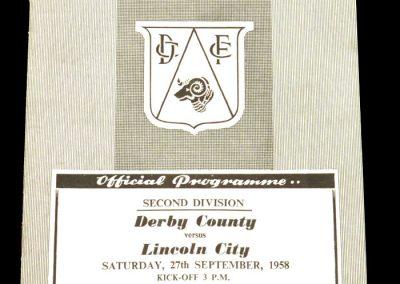 Derby County v Lincoln City 27.09.1958