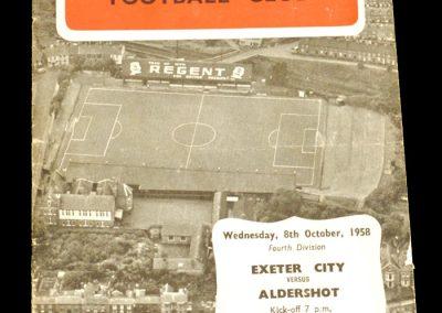 Exeter v Aldershot 08.10.1958