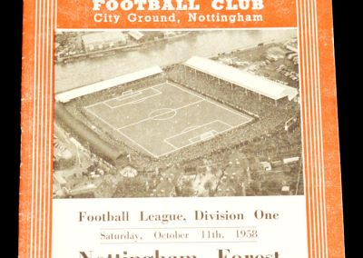Nottingham Forest v Luton Town 11.10.1958