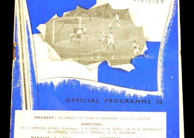 Bristol Rovers v Barnsley 18.10.1958